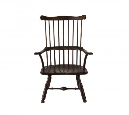Rare And Impressive Walnut Windsor Arm Chair