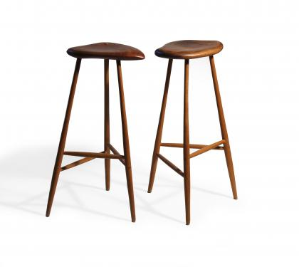 Hand Carved Stools after Wharton Esherick (SOLD)