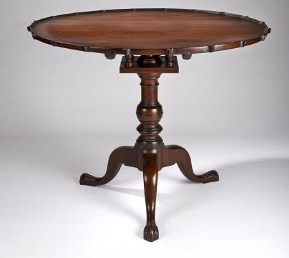 Chester County Walnut Pie Crust Tea Table (SOLD)