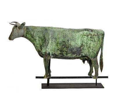 Copper & Zinc Cow Weathervane