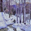 Oil on Canvas Landscape of Birches by Carl Lawless (SOLD)