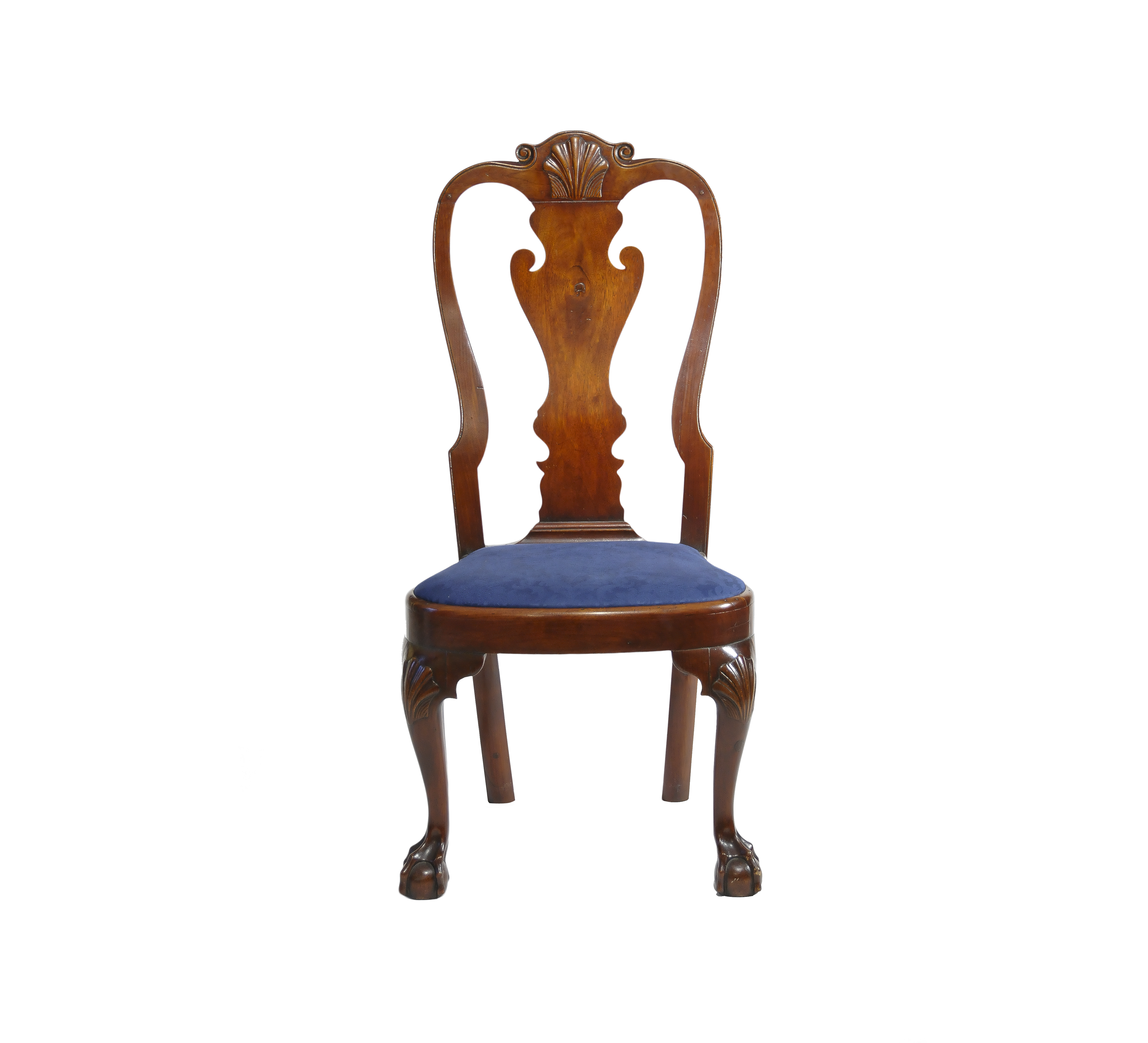 Walnut Queen Anne Balloon Seat Side Chair Sold