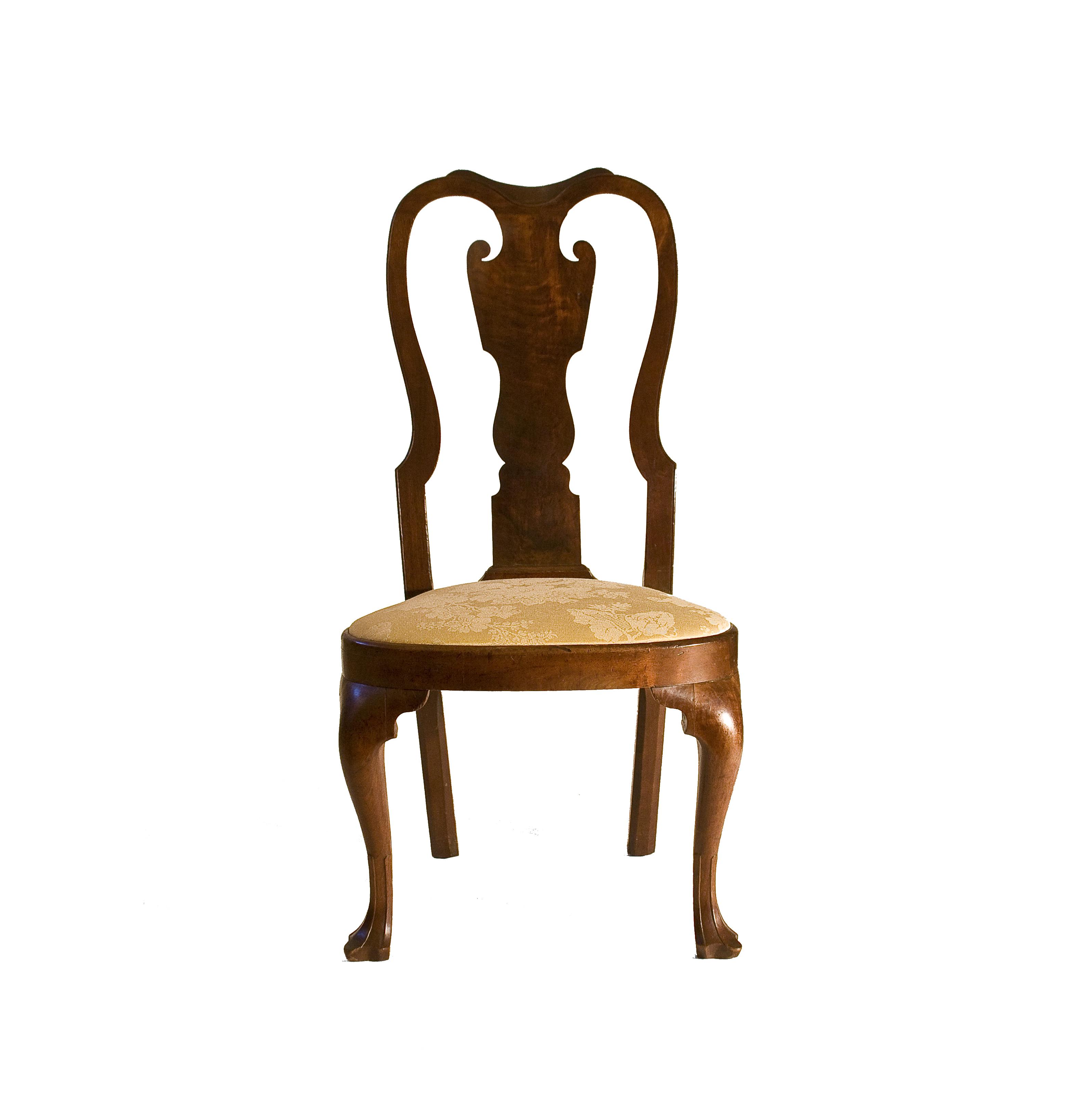 Walnut Queen Anne Side Chair