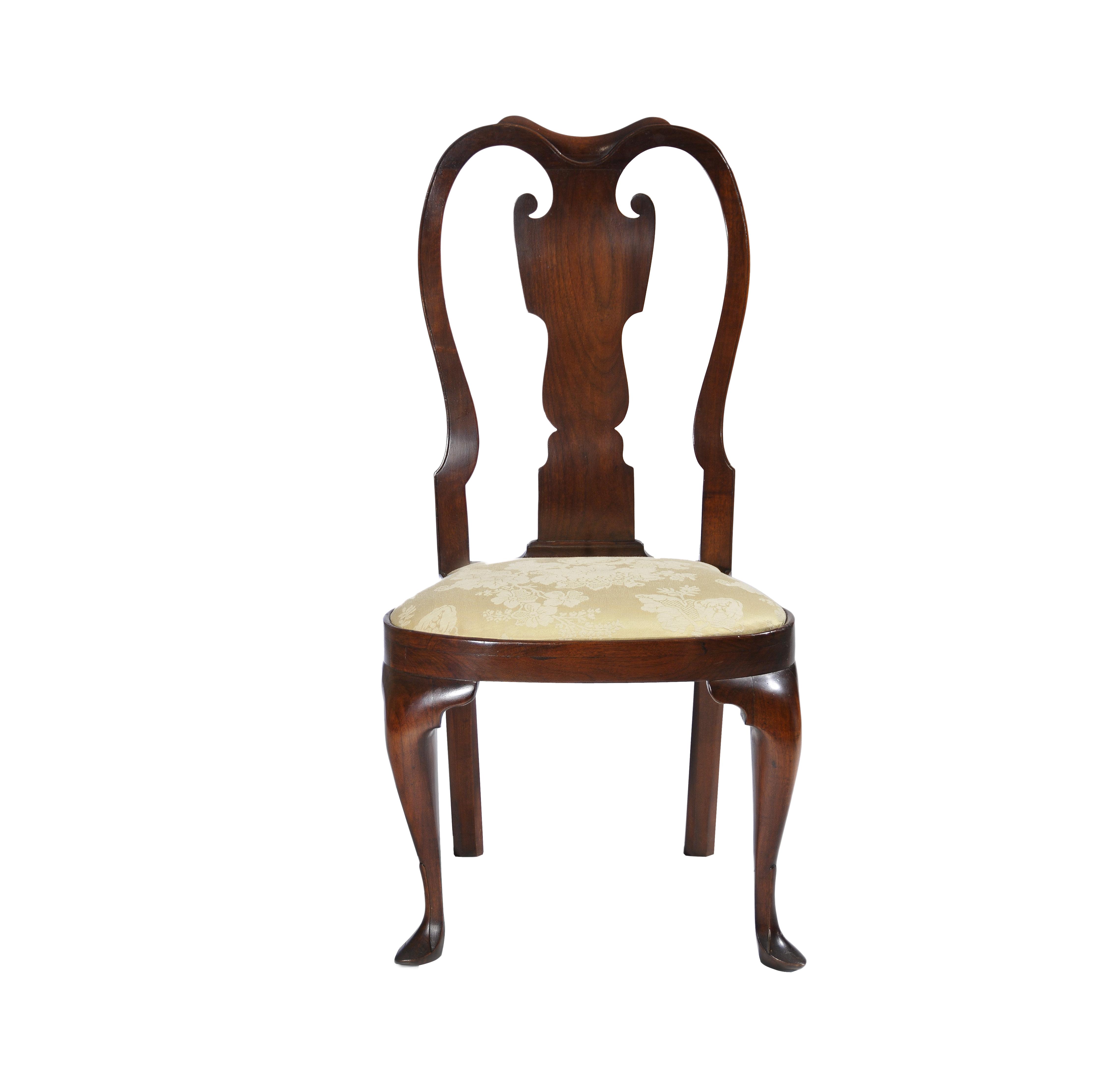 Walnut Queen Anne Balloon Seat Side Chair Hlchalfant Com