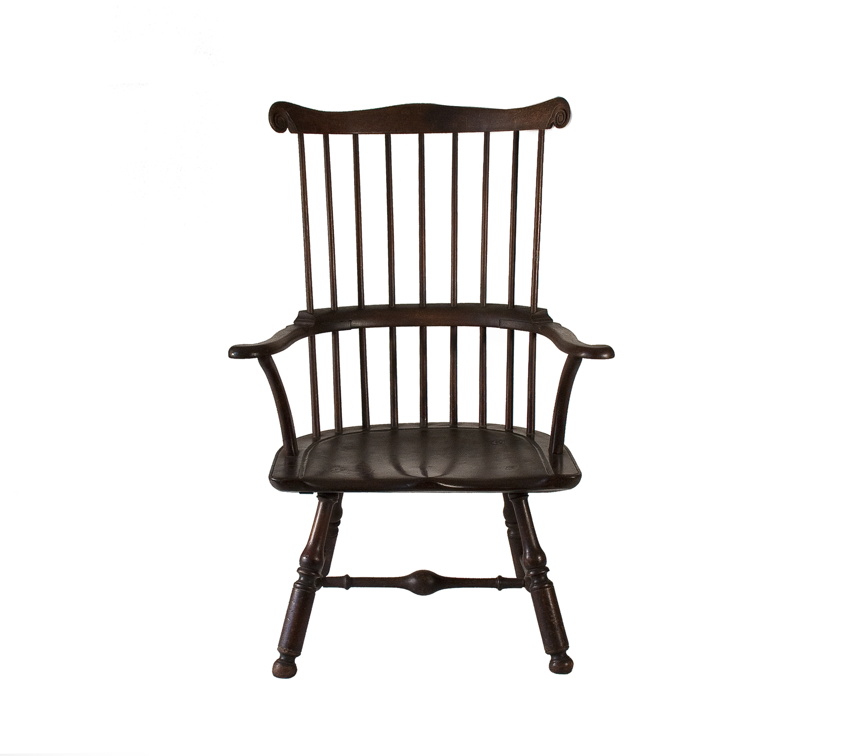 Wooden chair front view - Rare And Impressive Walnut