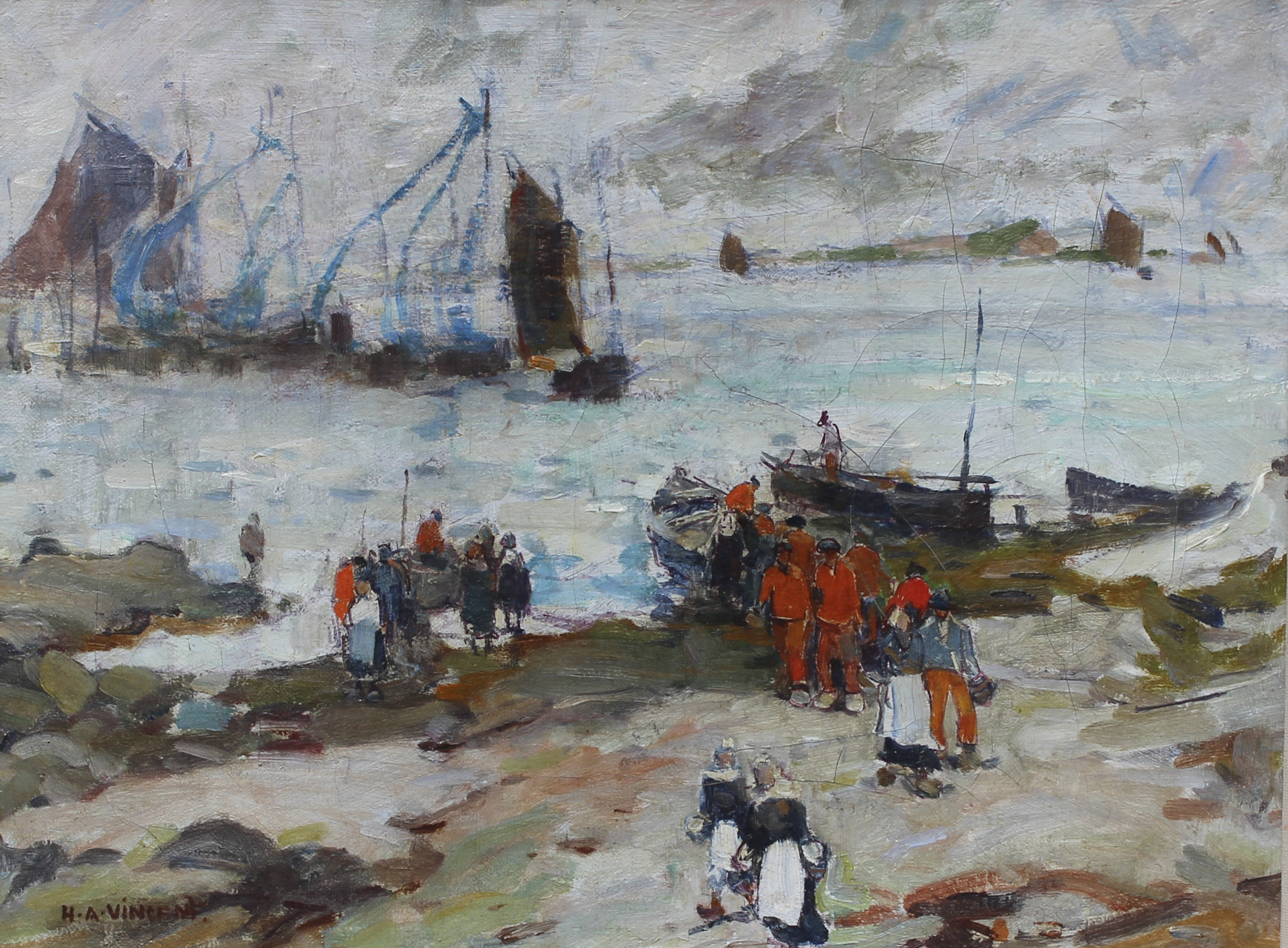 Oil On Canvas Of Brittany Coast Hlchalfant Com
