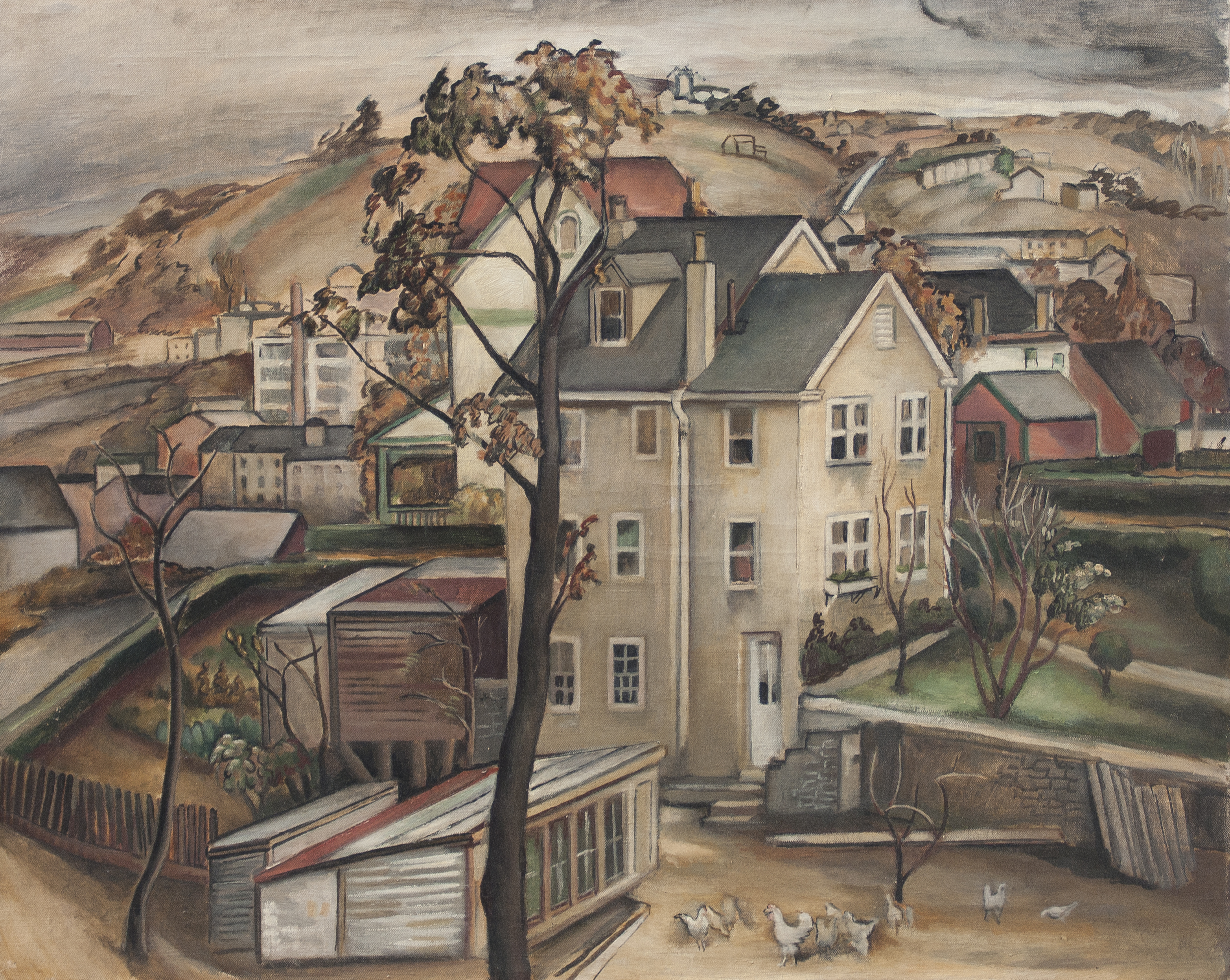Oil On Canvas Manayunk Scene By Grace Gemberling Keast