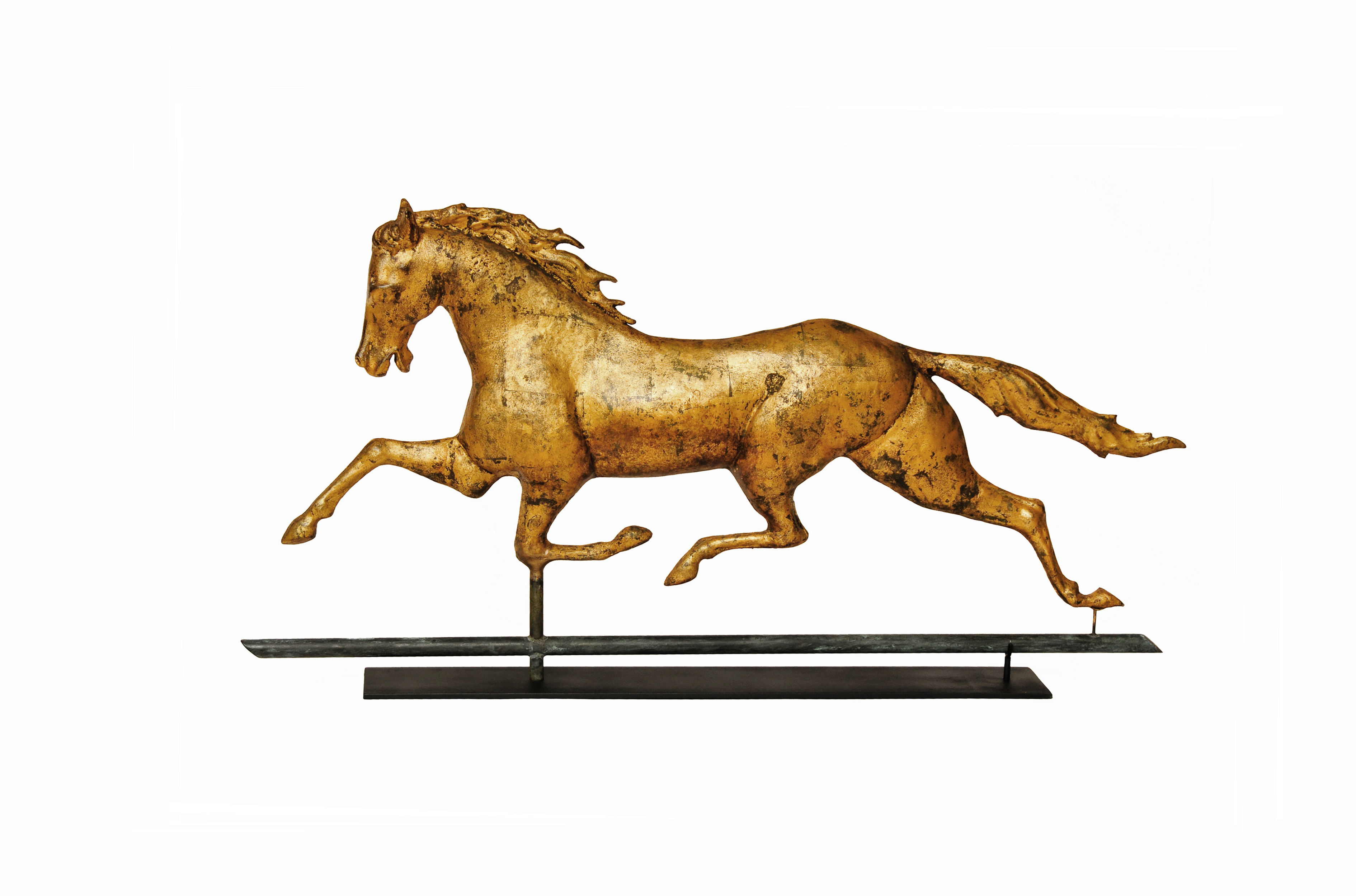 Copper And Zinc Patchen Horse Weathervane Sold